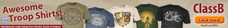 Awesome Troop T-Shirts from ClassB. Manufactured under license from the Boy Scouts of America