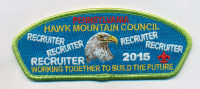Hawk MT. Council Recruiter 2015 Hawk Mountain Council #528