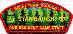 Patch Scan of Great Trailk Council STAMBAUGH CSP Cub Resident Camp
