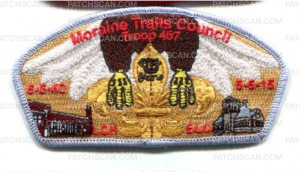 Patch Scan of Moraine Trails Council Troop 457