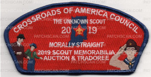 Patch Scan of MORALLY STRAIGHT TRADOREE BLUE BORDER