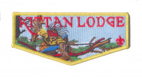 K124075 - Twin Rivers Council - Kittan Lodge NOAC Flap (Gold) Twin Rivers Council #364