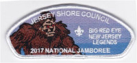 JSC 2017 National Jamboree 6 Piece Set Big Red Eye Jersey Shore Council #341