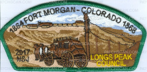 Patch Scan of 1864 fort morgan - Colorado 1868 CSP