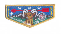 K124472 - BLUE MOUNTAIN COUNCIL - WA-LA-MOOT-KIN 336 FLAP (GOLD METALLIC) Blue Mountain Council #604