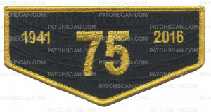 Patch Scan of ECHOCKOTEE LODGE 200 FLAP (FOAM & CONSECUTIVELY #)