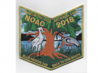 NOAC Pocket Patch Metallic Gold Border (PO 86728) Tidewater Council #596