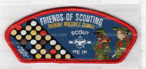 Patch Scan of Theodore Roosevelt Council Friends of Scouting Scout Me In 2019