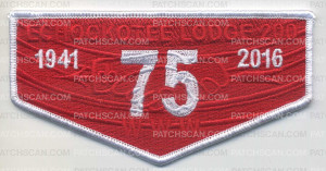 Patch Scan of ECHOCKOTEE LODGE 200 OA RED & WHITE