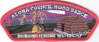 Aloha Council Wood Badge CSP - Red Border Aloha Council #104