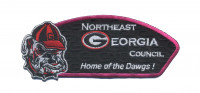 NEGA Council- Home of the Dawgs (Hvy Emb) Pink Border Northeast Georgia Council #101
