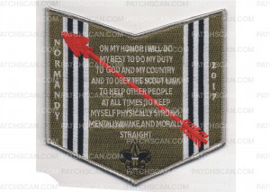 Patch Scan of Normandy Camporee Pocket Patch Olive (PO 86766)