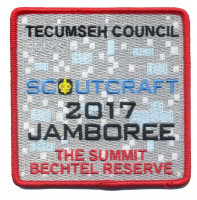 Tecumseh Council Scoutcraft 2017 Jamboree Square Gray Background Tecumseh Council #439