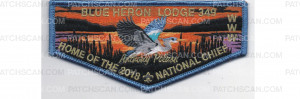 Patch Scan of 2018 National Chief Flap Blue Border (PO 87548)