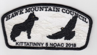 Kittatinny 5 NOAC CSP Ghosted Hawk Mountain Council #528