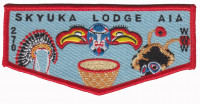 AIA Skyuka Lodge Flap 2016 Palmetto Area Council #549