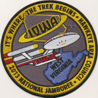 27981 - Starship 2013 Jamboree Back Patch Hawkeye Area Council #172
