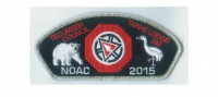 Tarhe Lodge NOAC CSP metallic silver border Tecumseh Council #439