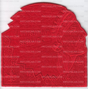 Patch Scan of Occoneechee Lodge Elangomat Red Ghosted-Headress