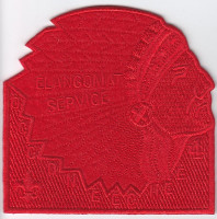 Occoneechee Lodge Elangomat Red Ghosted-Headress Occoneechee Council #421