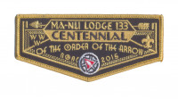 K123143 - LFC MA NU LODGE OA CENTENNIAL FLAP Last Frontier Council #480