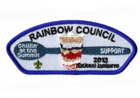 RAINBOW COUNCIL- 2013 JAMBORE- SUPPORT- 212098 Rainbow Council #702