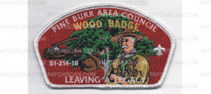Patch Scan of 2018 Wood Badge CSP White Border (PO 87513)