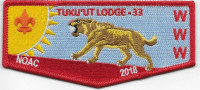 Tuku'Ut Lodge 33 NOAC 2018 - pocket flap Greater Los Angeles Area Council #33