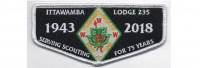 2018 Lodge Flap Black (PO 87581) West Tennessee Area Council #559