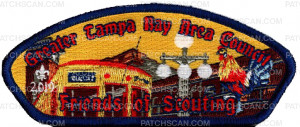 Patch Scan of Greater Tampa Bay Area Council Friends of Scouting Ybor City 2019