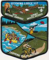 29152 - Jamboree 2013 Pocket Set Patch Chippewa Valley Council #637