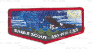 Patch Scan of Last Frontier Council Eagle Scout Ma-Nu 133 Flap