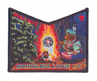 K123928 - Calumet Council - NOAC Patch Michigamea Small Squirrel Pocket (Black) Calumet Council #152