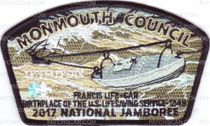 Patch Scan of Monmouth Council- 2017 NSJ- Francis Life- Car