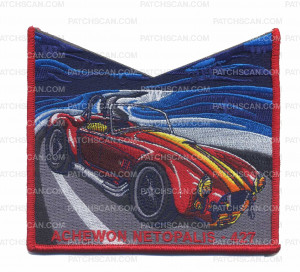 Patch Scan of Achewon Netopalis NOAC Bottom Piece (Red/Blue)