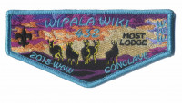 Wipala Wiki 432 Host Lodge 2018 W6W Conclave flap Grand Canyon Council #10