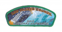 Los Padres Council 2017 Jamboree JSP Green Metallic Border Los Padres Council #53