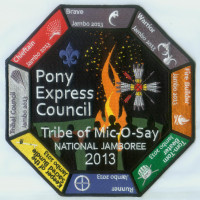 TRIBE OF MIC-O-SAY NATIONAL JAMBOREE 2013 BACK PATCH Pony Express Council #311