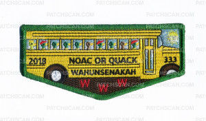 Patch Scan of 2018 NOAC OR QUACK Wahunsenakah 333 WWW Flap