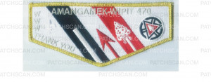 Patch Scan of Amangamek-Wipit gold border flap