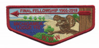 Michigamea Lodge 110 Fall Fellowship flap Pathway to Adventure Council #