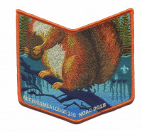 Michigamea Lodge 110 NOAC 2018 pocket patch Pathway to Adventure Council #