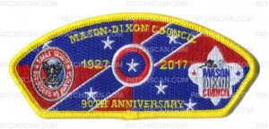 Patch Scan of Mason-Dixon Council - 90th Anniversary - Trader CSP
