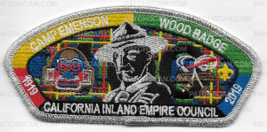 Patch Scan of Camp Emerson Wood Badge CIEC Silver Metallic