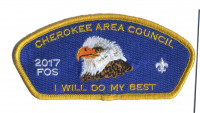 Cherokee Area Council 2017 FOS I Will Do My Best CSP Cherokee Area Council #469