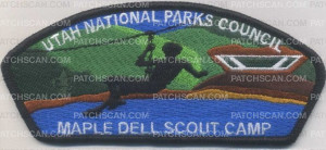 Patch Scan of Utah National Parks Maple Dell - Zip line