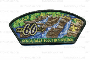 Patch Scan of Cradle of Liberty Council - Resica Falls Scout Reservation CSP