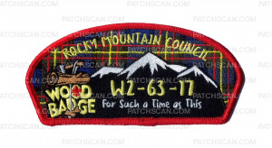 Patch Scan of Rocky Mountain Council - Wood Badge - For Such a Time as This