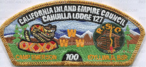 Patch Scan of California Inland Empire Council Camp Emerson 100 - csp