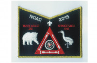Tarhe NOAC pocket patch gold border Tecumseh Council #439